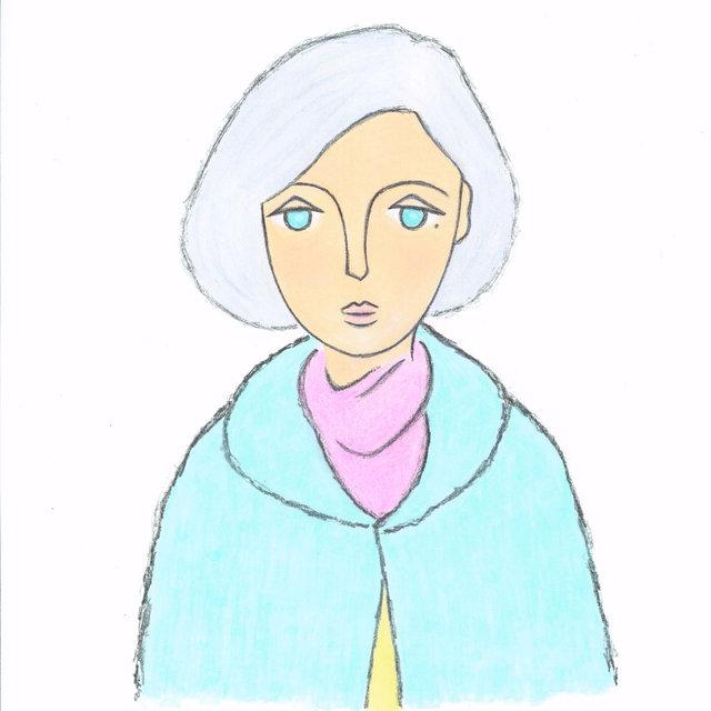 カランダッシュの色鉛筆を使用して描いた倉野さんのイラスト。色鉛筆をコピックというインクマーカーで溶かして着色しているそう。