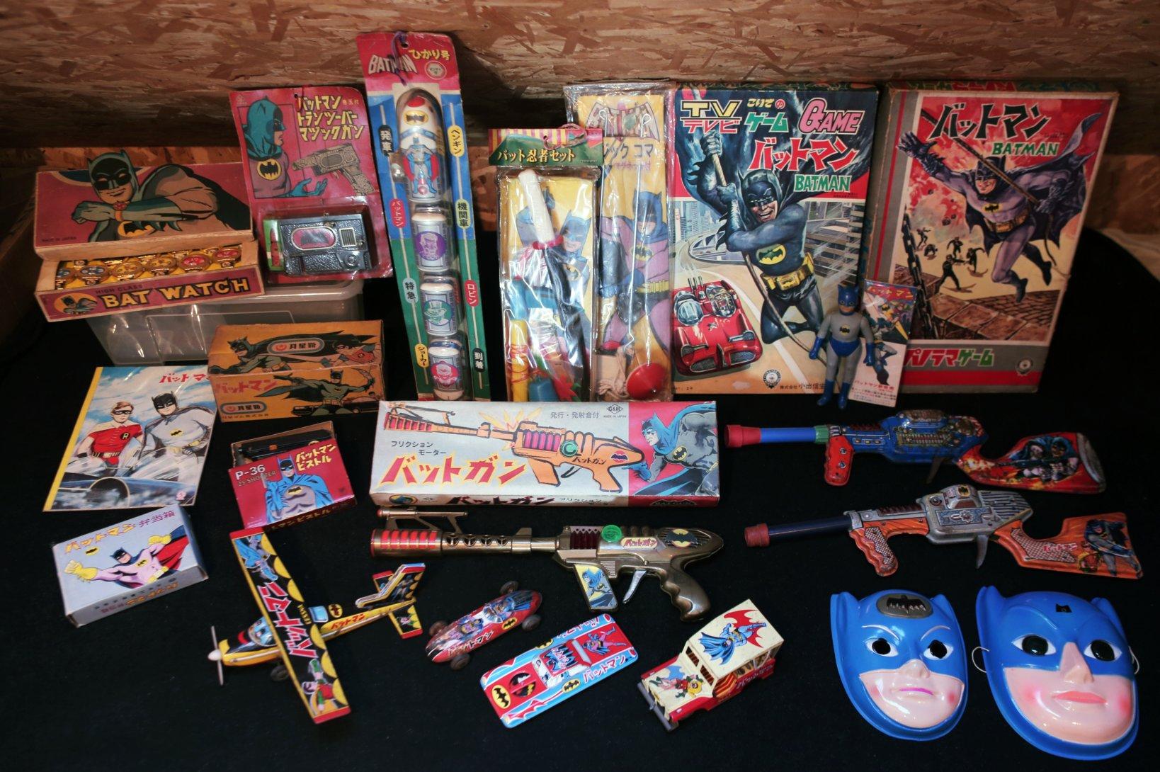 1960年代に発売された日本製のバットマングッズの数々