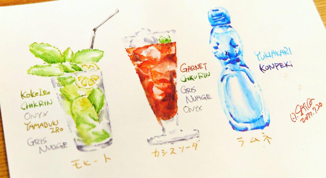 万年筆でイラストを。サトウヒロシ流、万年筆インクの楽しみ方_image