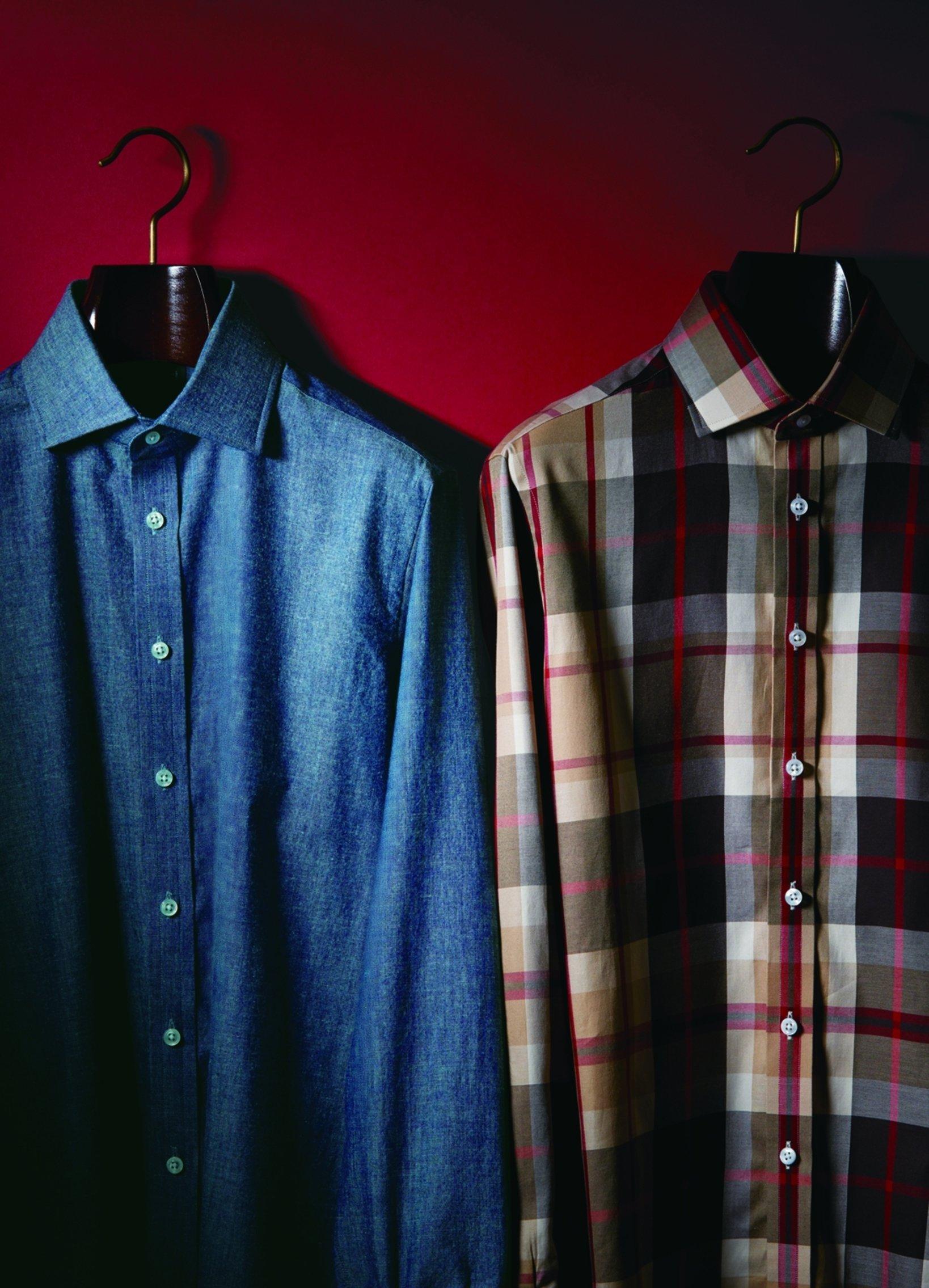 「ターンブル アンド アッサー」デニムシャツ¥43,000+税 ハウスチェックシャツ ¥43,000+税