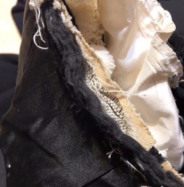 ベーシュの布が麻芯