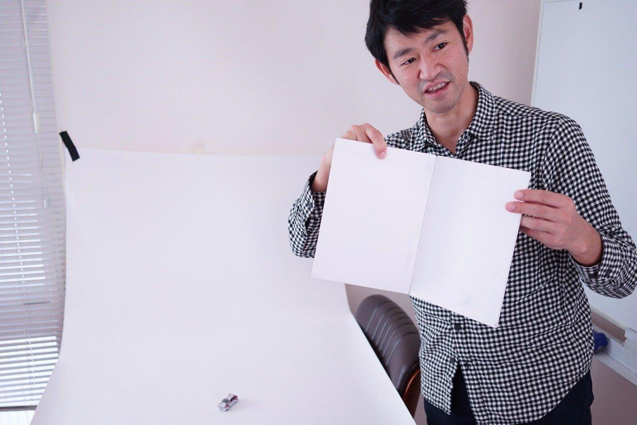 白い紙なら何でも大丈夫。Amazonでも1000円ぐらいで買える。