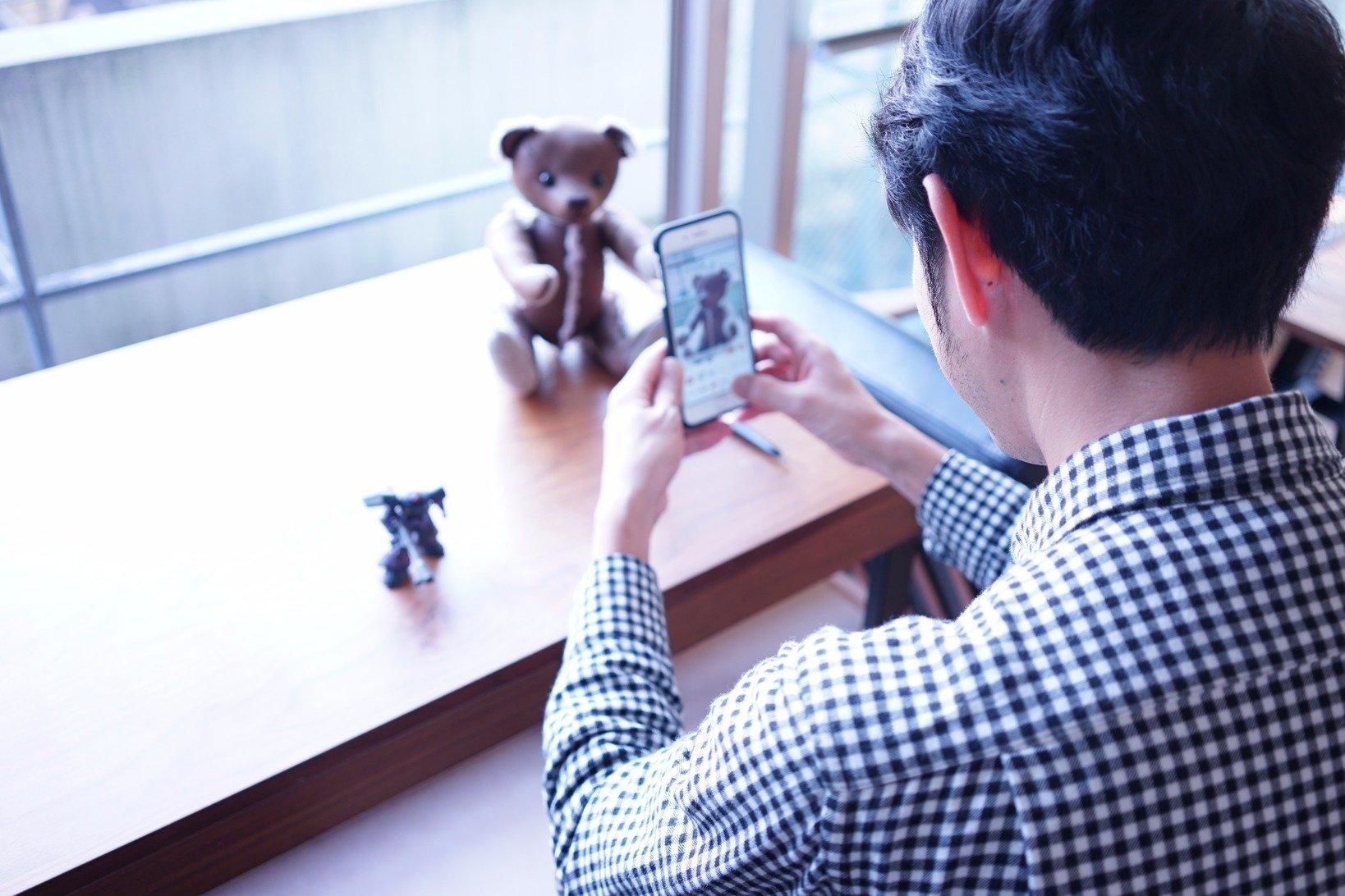 まきのさん所有のiPhone8による撮影も実施。