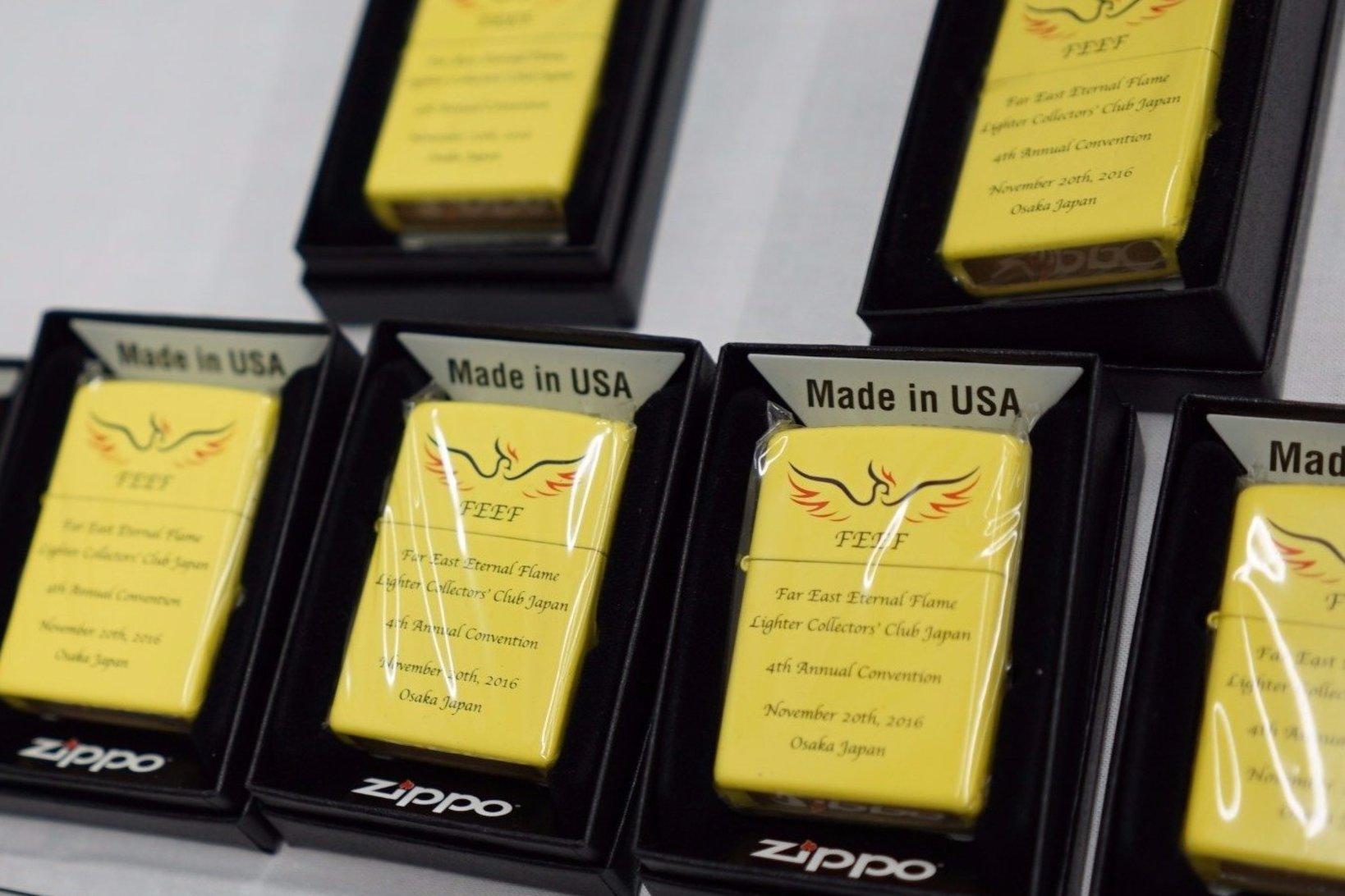 Zippo社に依頼をした、FEEF公式のZippoも会場で限定販売されていた。