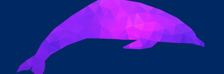 Dolphin polygon silhouette