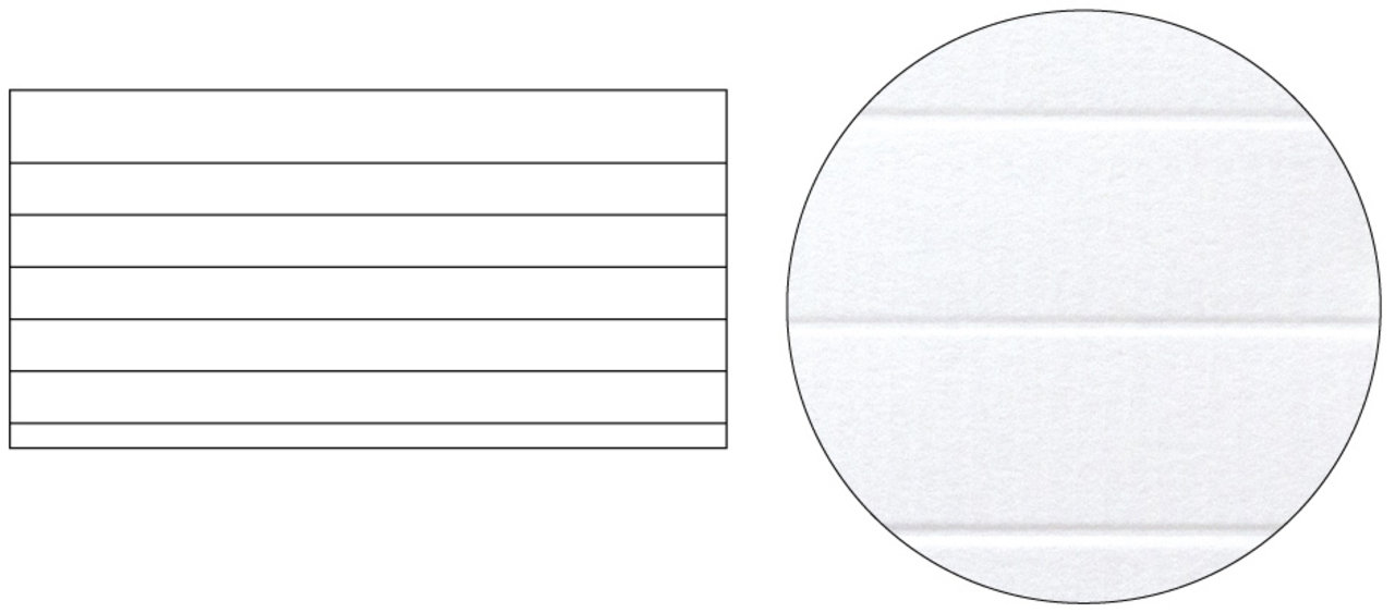 no.2 ■紙:ダンデレード CoC ■加工:デボス (罫線部分が凹)