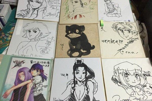 漫画家 アニメーター 直筆イラスト色紙コレクション 漫画家のサインまとめ Muuseo