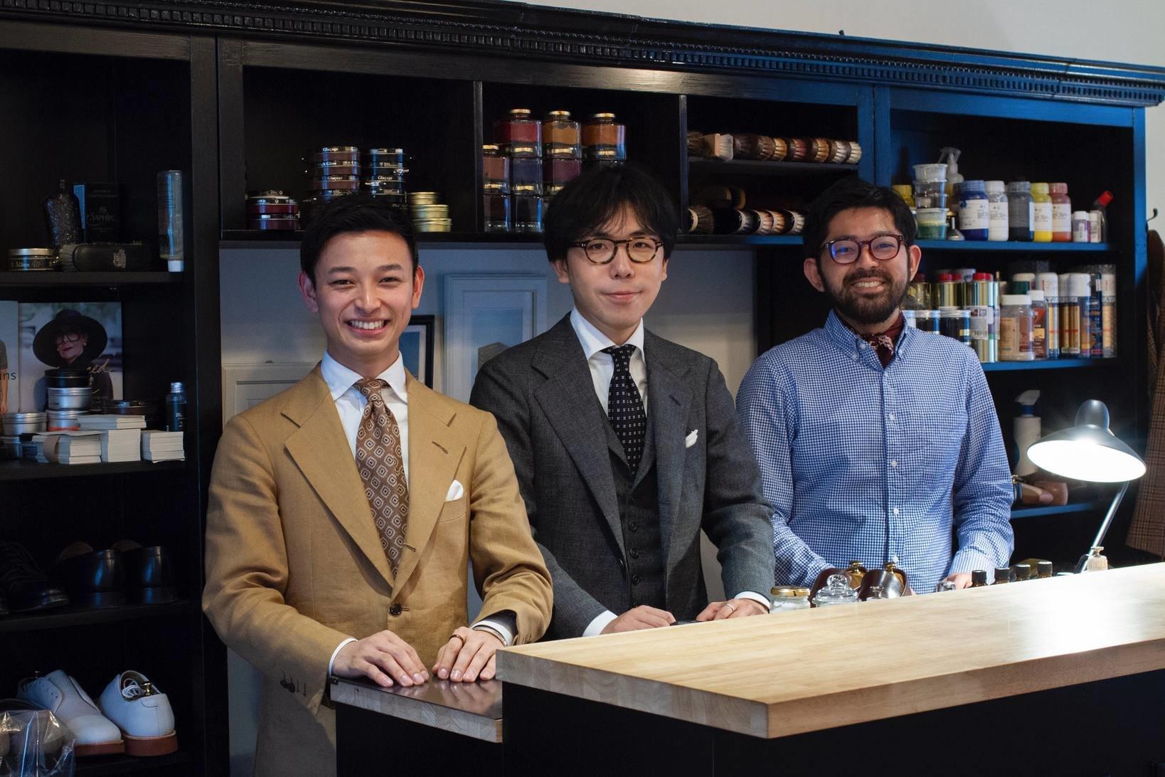 現在TWTGでは3名の職人が活躍している。左から寺島さん、石見さん、細見さん。