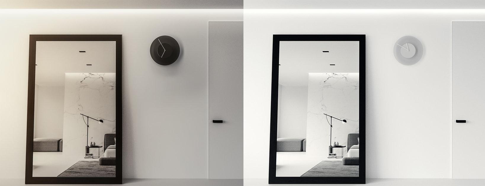 左:夜の空間イメージ  右:昼間の空間イメージ