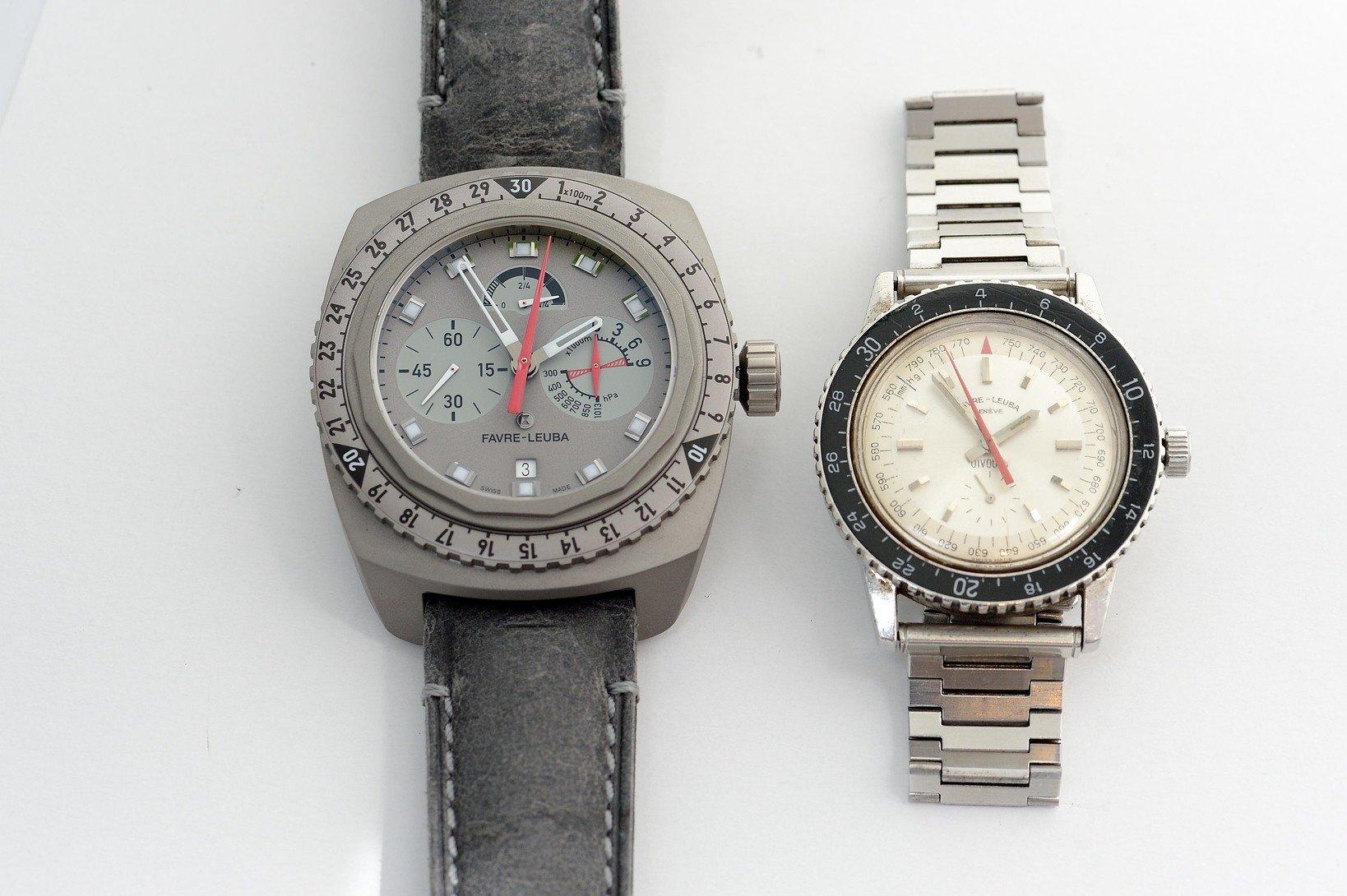 左が今回贈呈された「レイダー・ビバーク 9000」。右がエベレスト登頂の際に実際用いられた田部井家の「ビバーク」。なお、この時計は40年以上経った現在も稼働する。