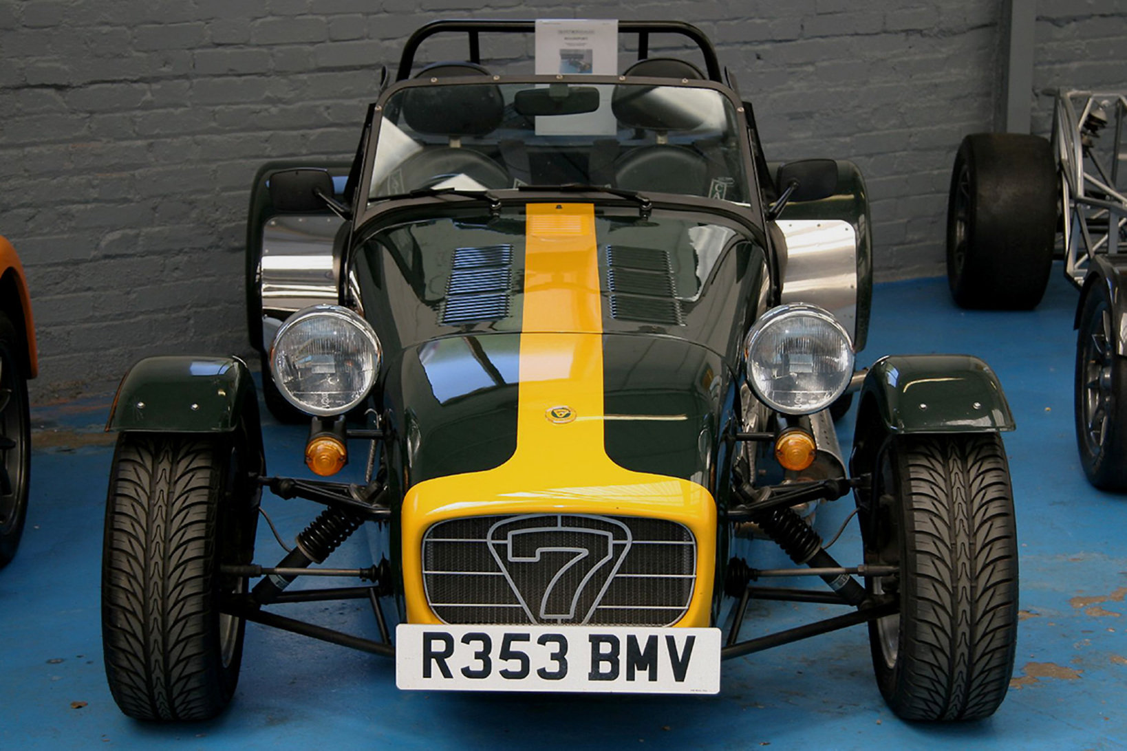 Caterham 7 at Caterhams showroom by Brian Snelson from Hockley, Essex, England