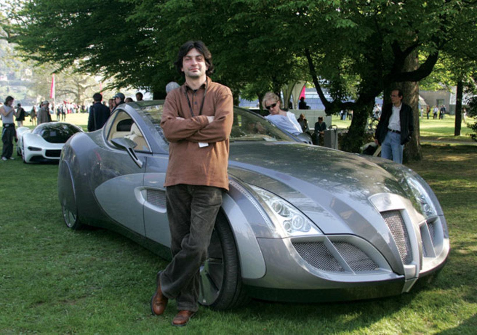 チコリア氏と彼がデザインした2006年ルッソ・バルティック・インプレッション
