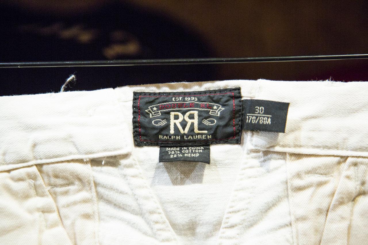 1993年に登場したカントリーライン「RRL」。ヴィンテージ・マニアであるラルフローレン氏が自分自身でヴィンテージスタイルを作ろうとスタートした。