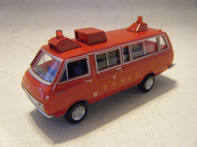 Japan Fire Van Toyota Hiace Die Cast Model Car Other Vehicles Contemporary Manufacture