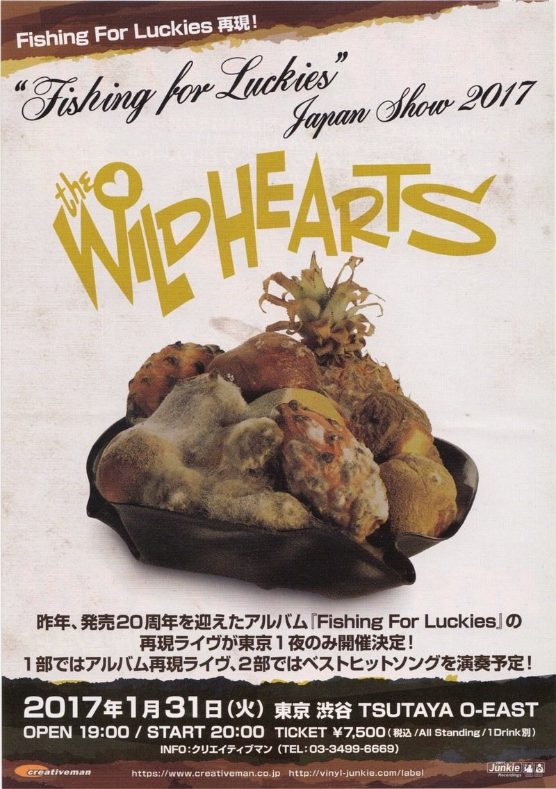 the wildhearts concert flyer fishing for luckies japan show 2017
