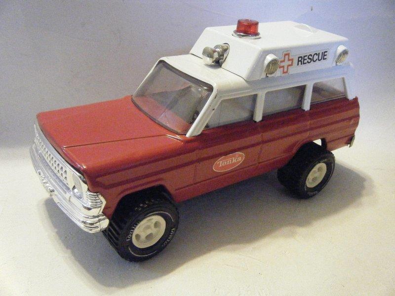 tonka usa jeep wagoneer rescue ambulance パトカー 救急車 消防