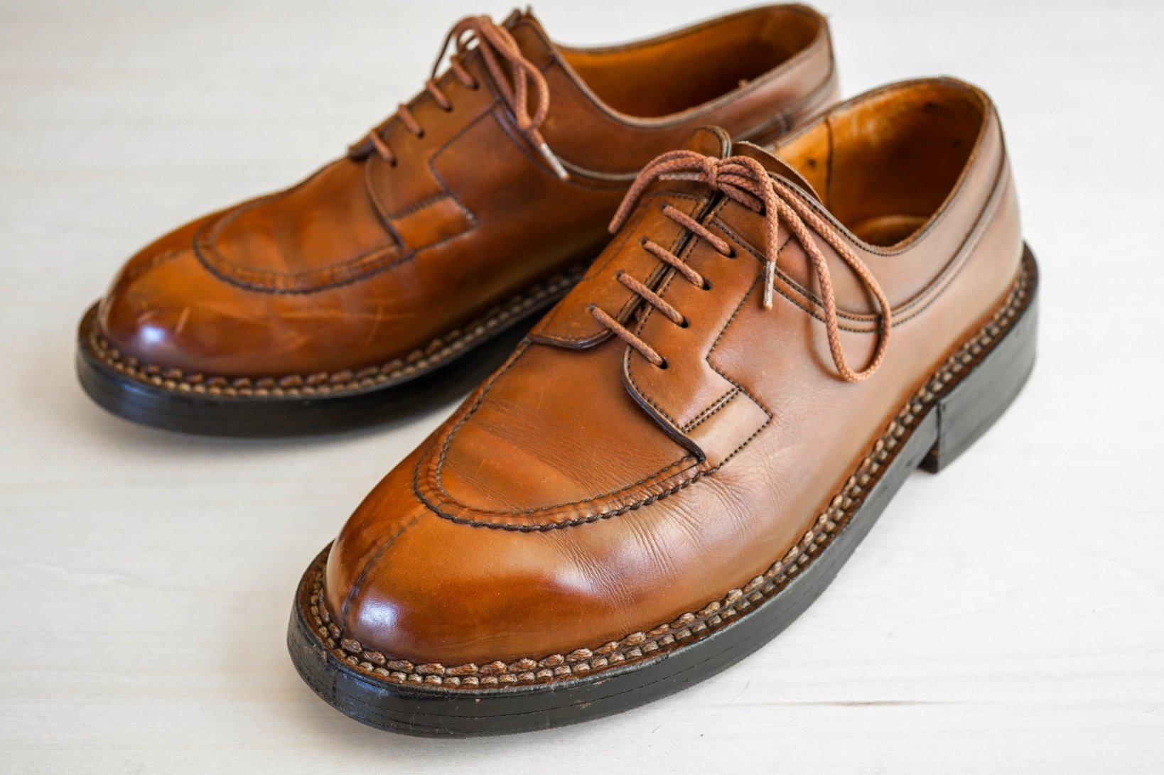 フランスの靴ブランド「J.M.WESTON(J.Mウェストン)」のUチップ。モデルは「Hunt Derby(ハントダービー)」。