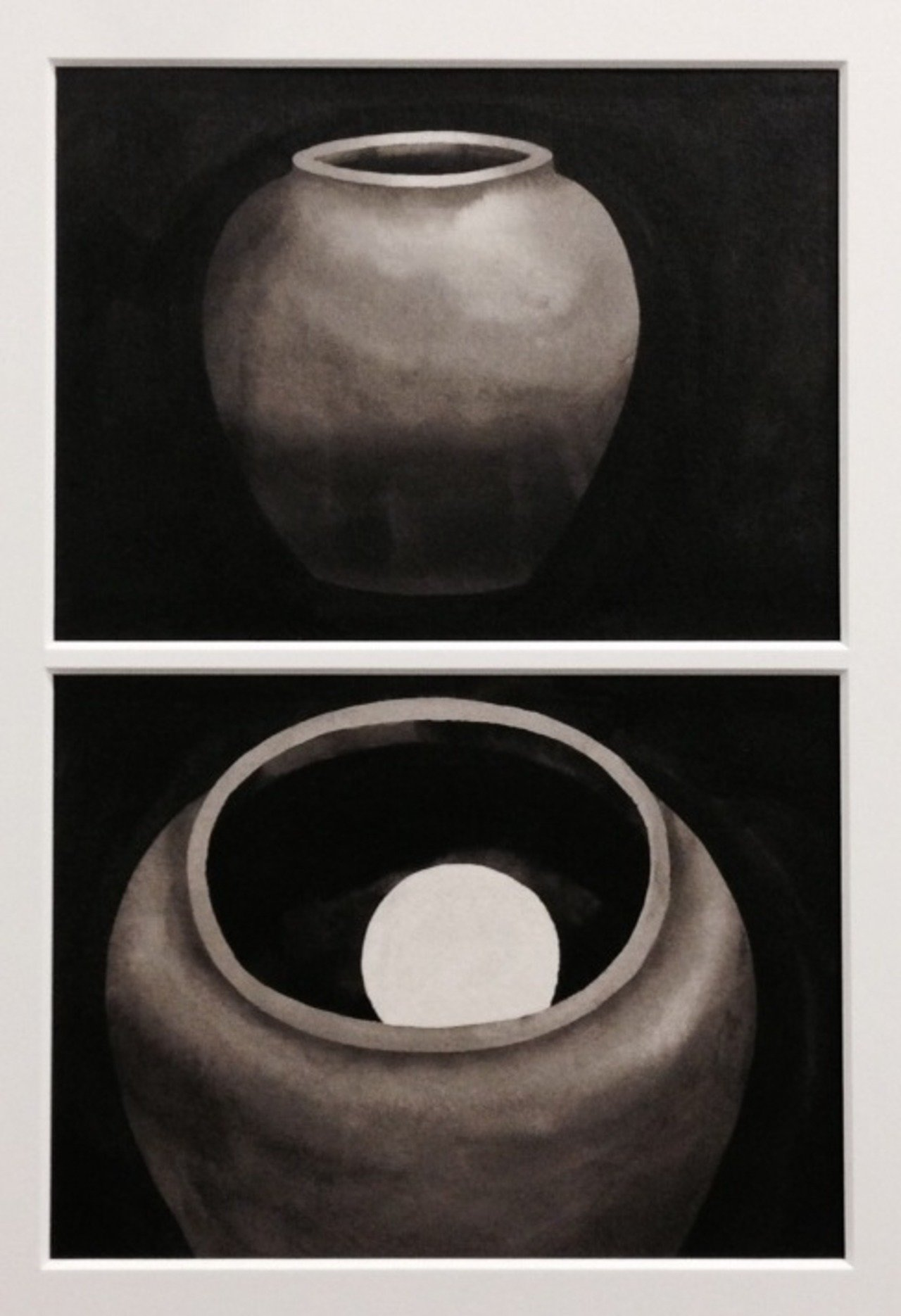 ©Freddy Nadolny, The Moon in the jar, 2014,watercolor on paper, Courtesy of SCAI THE BATHHOUSE