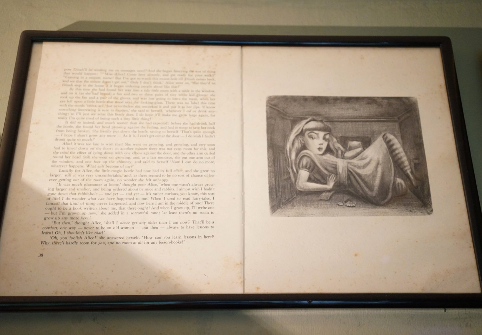 1974年「不思議の国のアリス」シリーズより。白黒の作品という事もあって、構図などもテニエルの物に近い。