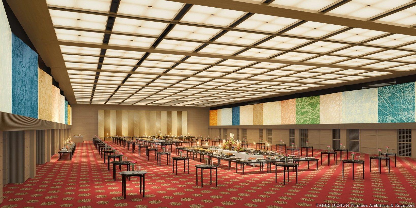 大宴会場「平安の間」TAISEI DESIGN Planners Architects & Engineers