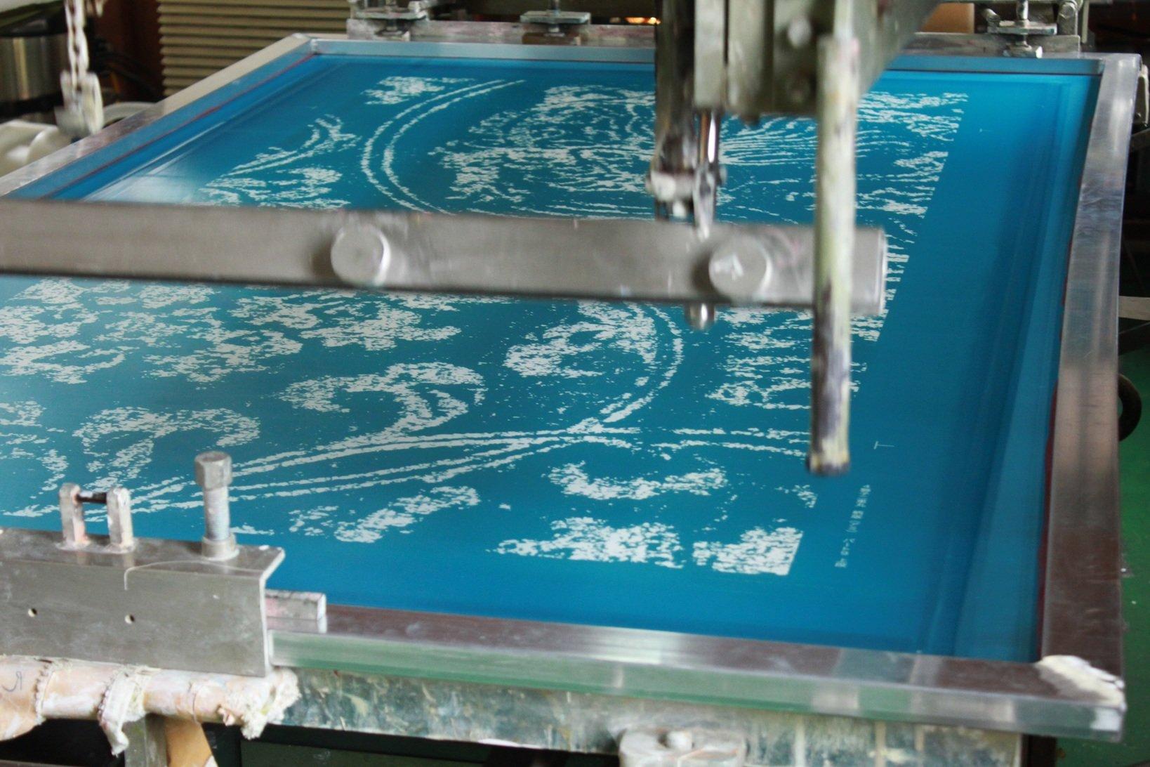 制作風景 シルクスクリーン印刷機
