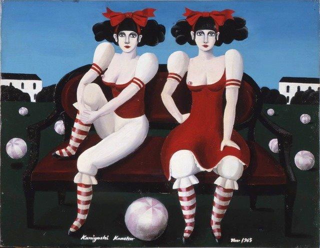 1965年に描かれた作品。この絵は金子が絵を描き始めて間もない頃の作品である。