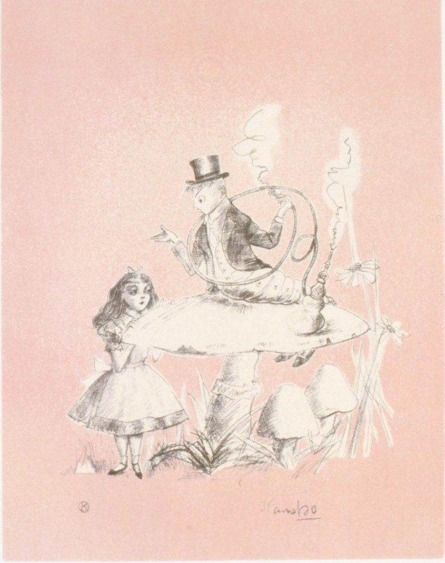 1994年「不思議の国のアリス」シリーズより。柔らかく繊細な色使いが非常に美しいシリーズだ。