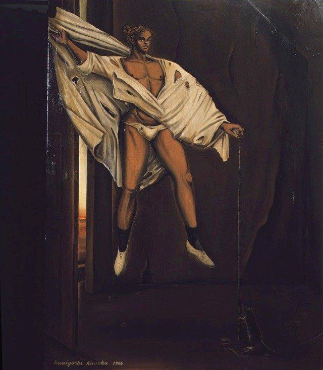 1996年「使者ハ到着セリ」 主に90年代に入ってから、宗教画をモチーフにした作品を多く発表している。