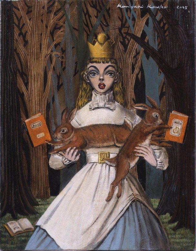 2005年に描いたアリスの姿は、金子国義さんの画風が濃く反映されている。