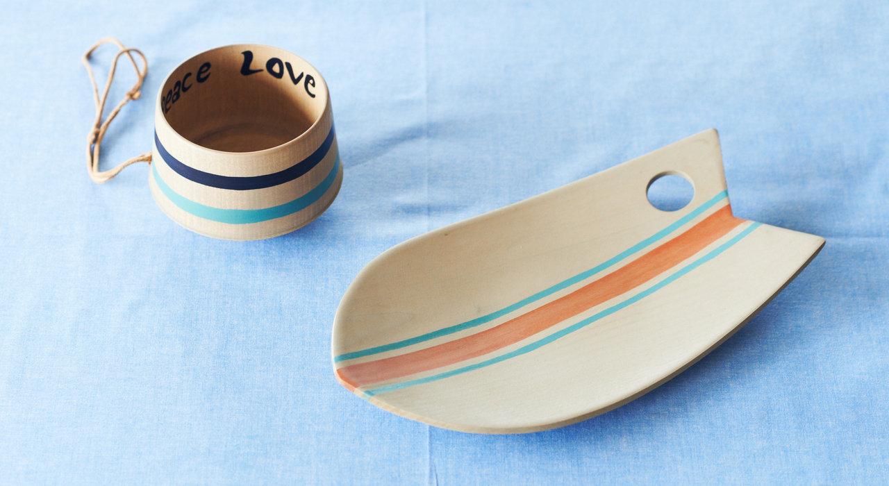 ノダテマグとモンロ(Monro)のコラボ木製マグカップ。木目を活かした食器で楽しいひとときを。_image