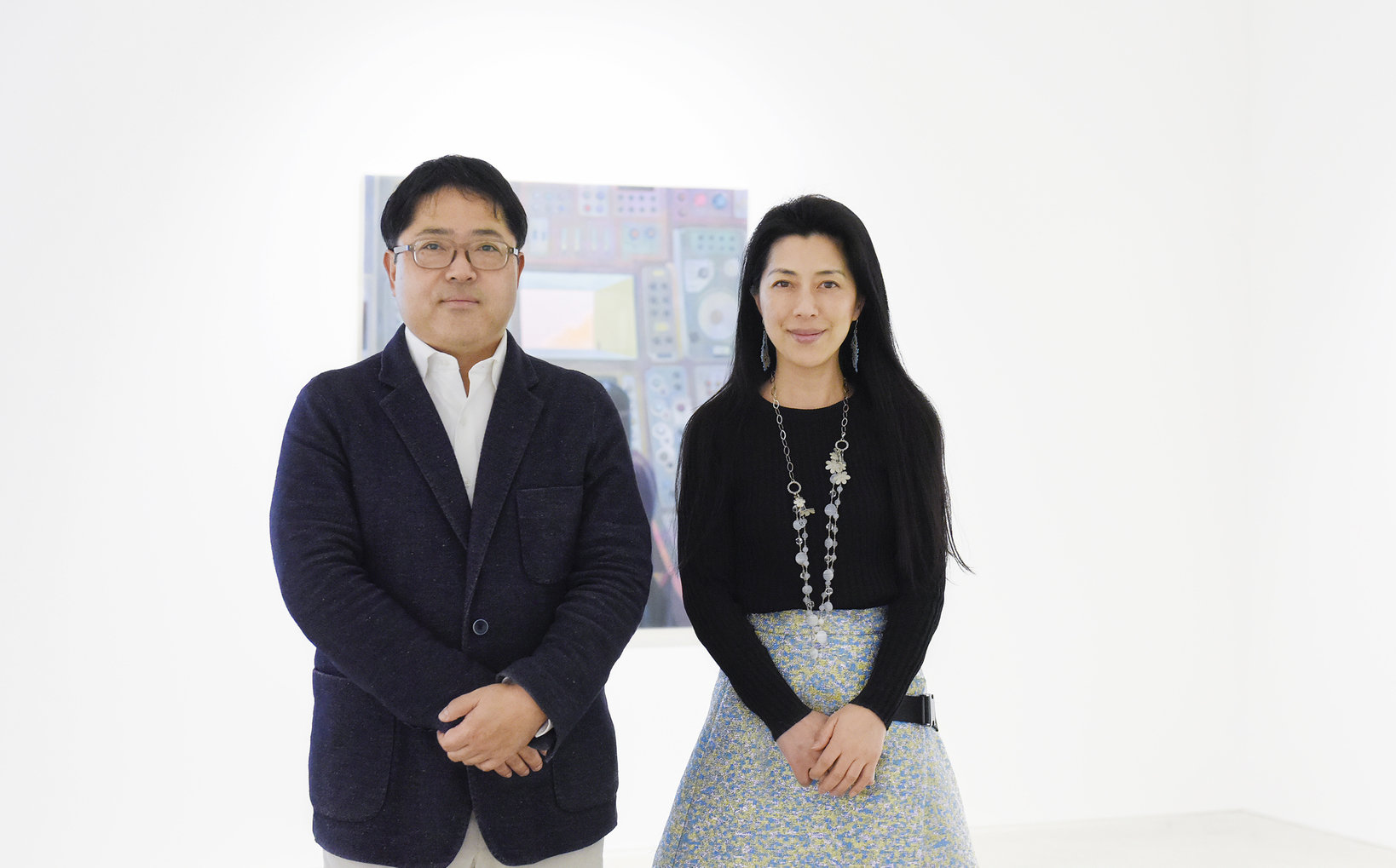 左から:小山登美夫、笹川直子