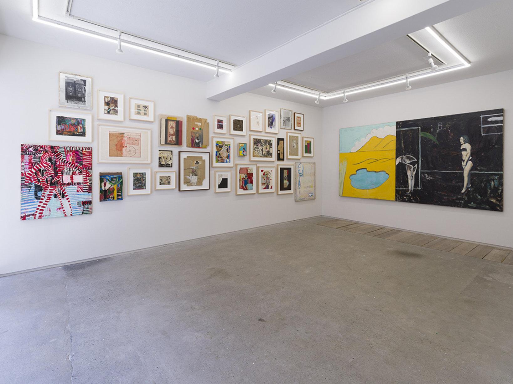 Installation view of Shinro Ohtake 1975–1989 at Take Ninagawa, Tokyo, 2019, ©︎ Shinro Ohtake, courtesy of Take Ninagawa, Tokyo. Photo by Kei Okano