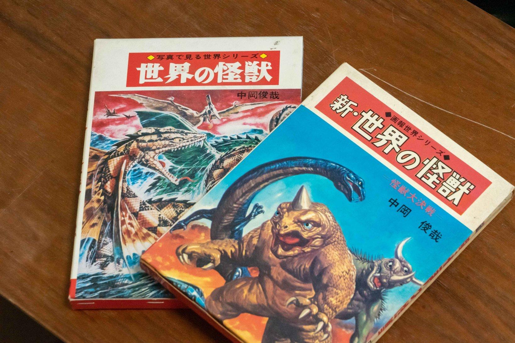 秋田書店に許可を取って復刊した「世界の怪獣」。この本に出てくる怪獣もオリジナルとして制作している。「オリジナルのソフビは色々な塗装を試せる利点があります。獣虫も現実にいるようなリアルな雰囲気を考えながら塗装しました」(宮澤さん)