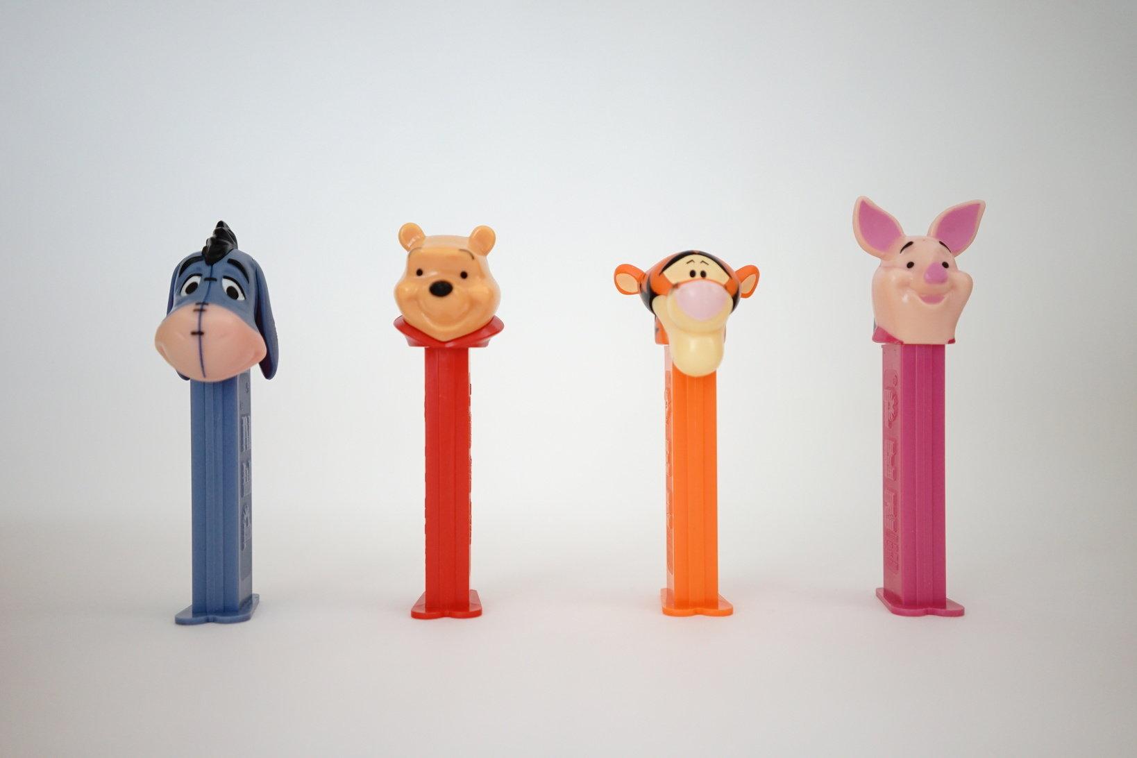 (左から)イーヨー、プーさん、ティガー、ピグレット