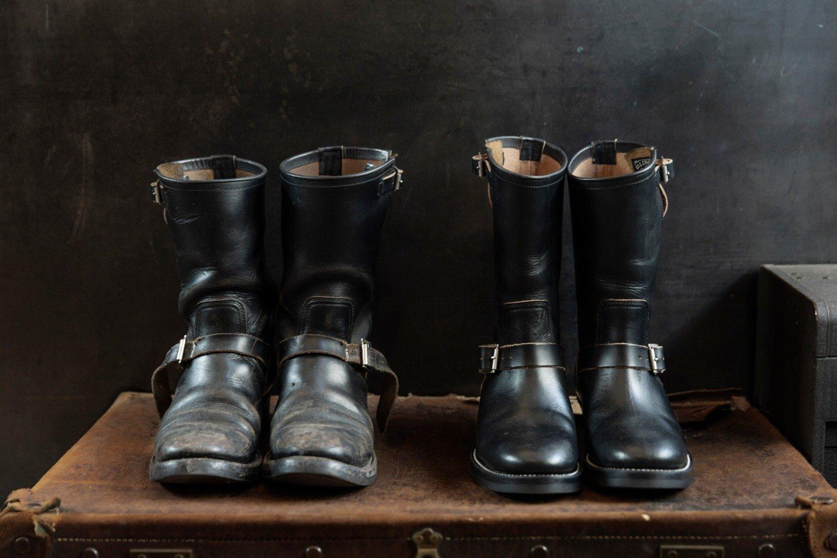 履き込む前と後を容易に比較できるのも、BRASSでCLINCHの靴を買う楽しみの一つだ。