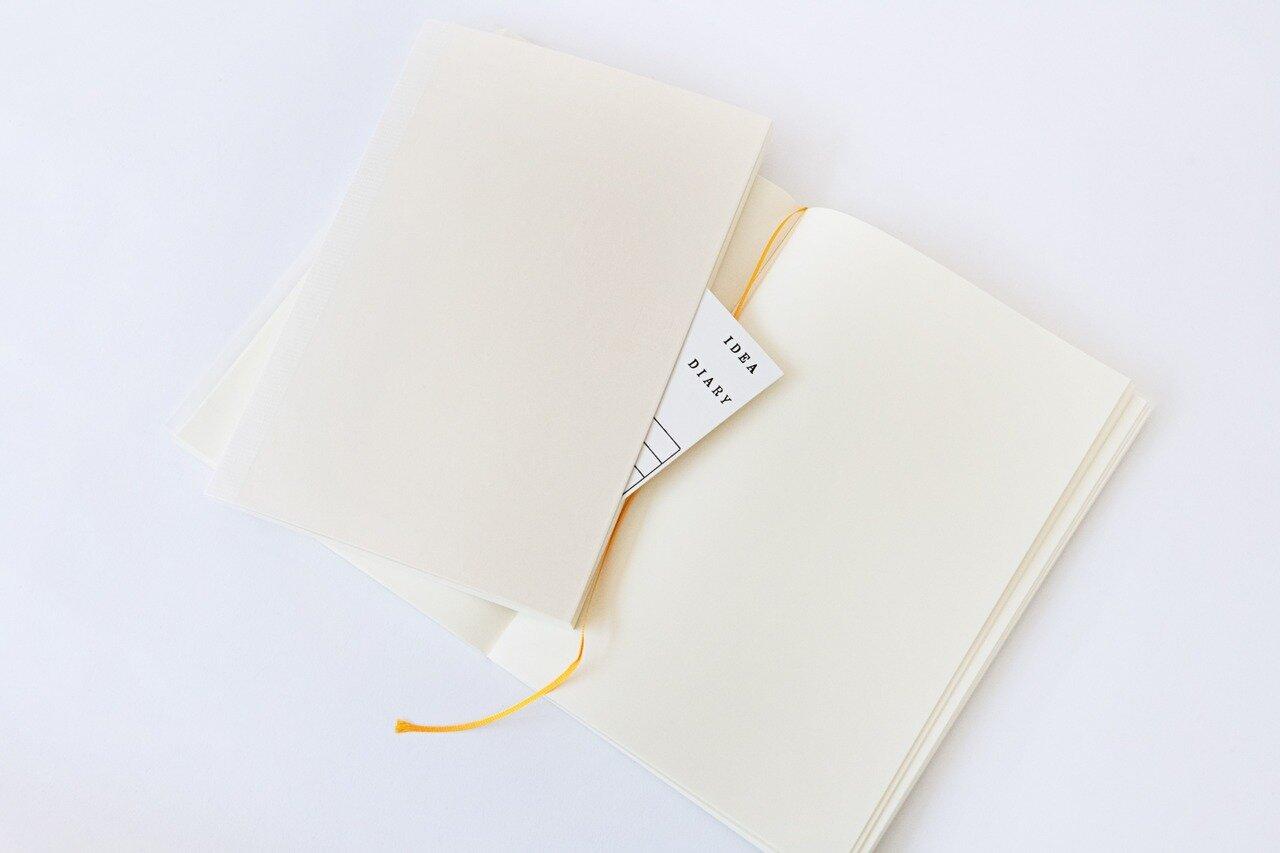 MDノート[A5・無罫・176ページ]¥800(税別)/<a href=https://www.midori-japan.co.jp/md/ target='_blank'>ミドリ</a>(デザインフィル)