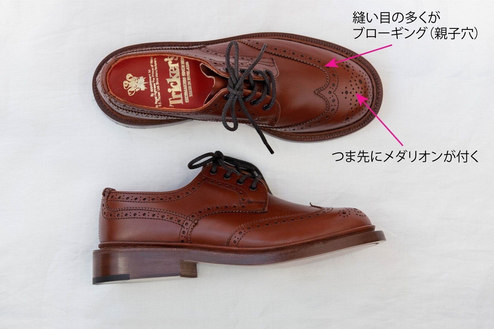 """「<a href=http://www.trickers-store.jp/shopdetail/000000000117/women/page1/recommend/ target='_blank'>ANNE(L5679)</a>」¥75,000+税/トリッカーズ青山店 ▶︎靴の詳細は<a href=""""https://muuseo.com/square/articles/1322"""" target=""""_blank"""">連載第2回</a>をチェック!"""