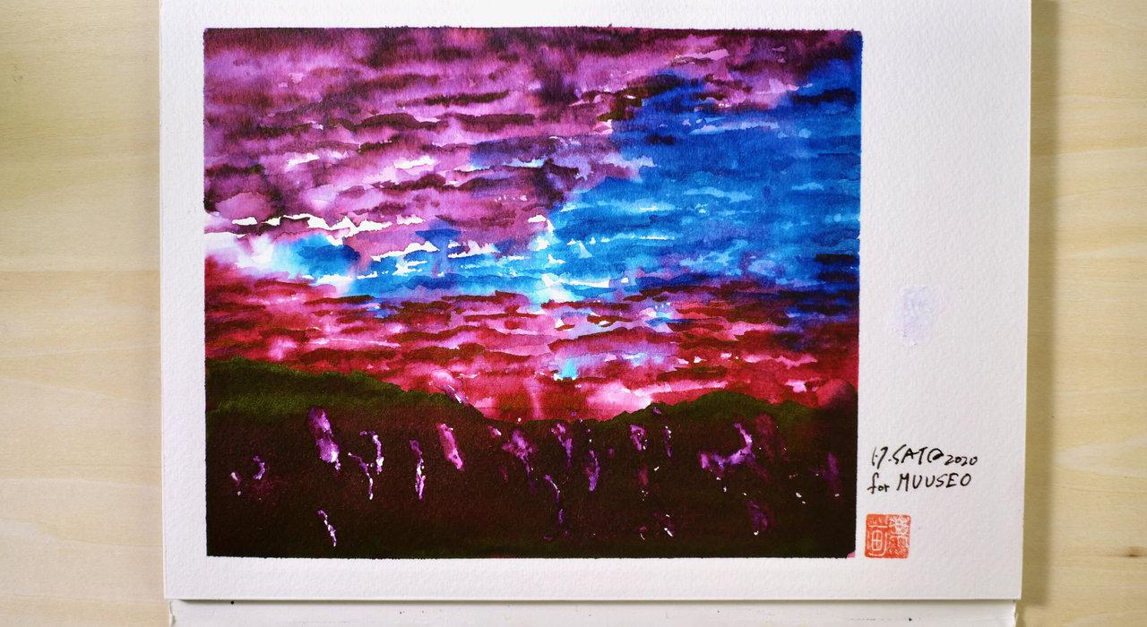 ご当地インク×万年筆イラストで全国旅気分。万年筆画家・サトウヒロシが描く「大分県別府」編_image