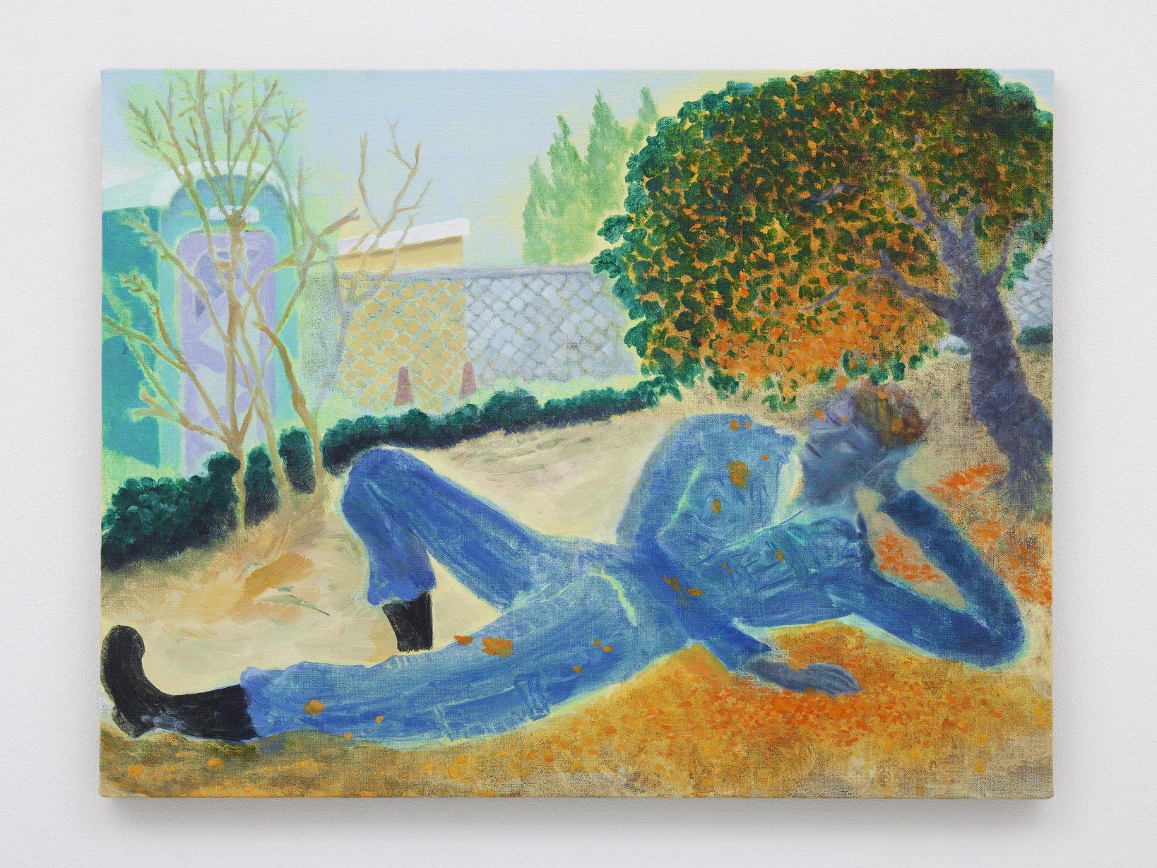 Under the fragrant olive 2020 oil on canvas 50.0 x 65.5 cm ©Daisuke Fukunaga