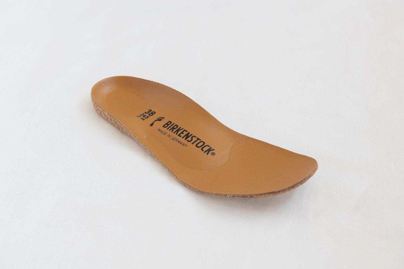 ビルケンシュトックの代名詞・フットベッド。以前から環境負荷の少ない素材で作られている。