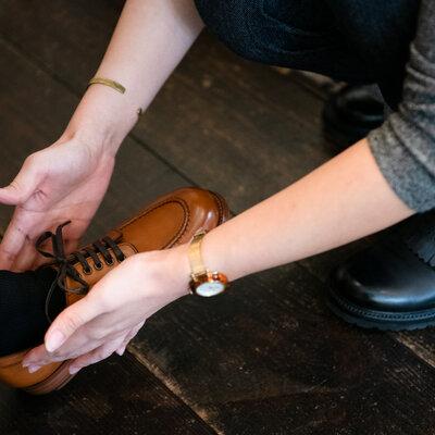 女性のライフスタイルを広げて深める革靴のススメ 第8回 正しいフィッティングで足のサイズと用途に合う靴を選ぶ。chausser訪問編_image