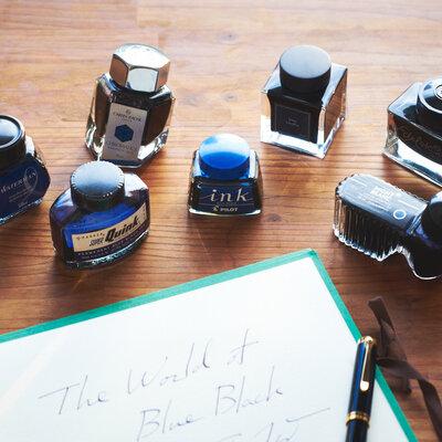パーカー、モンブラン、ペリカン…。王道のインクカラー「ブルーブラック」を比較する。_image