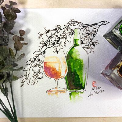 ご当地インク×万年筆イラストで全国旅気分。万年筆画家・サトウヒロシさんが描く「青森県」編_image