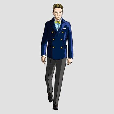 礼装の意義にもバッチリ叶う。略礼装として紺無地のブレザーを着用する際のポイント_image