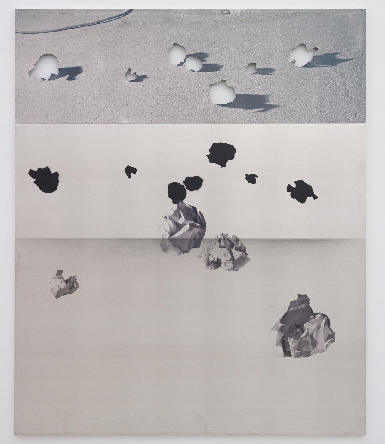 ネイサン・ヒルデン Untitled 2018 acrylic on aluminum 208.2x172.1cm Courtesy of the artist and MISAKO & ROSEN Photo: KEI OKANO