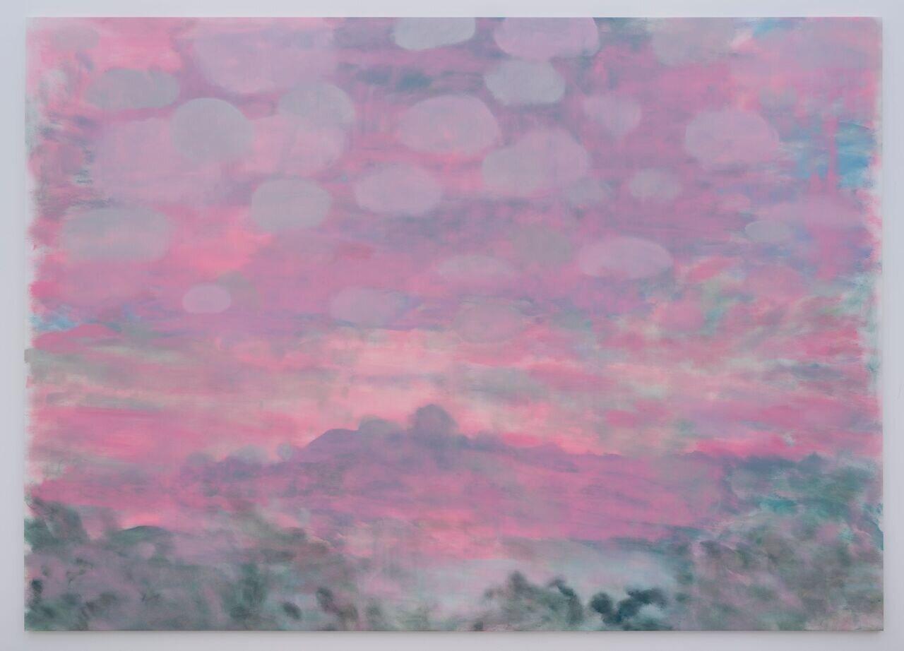 トレバー・シミズ Sunset and Clouds 2020 oil on canvas 269x376cm Courtesy of the artist and MISAKO & ROSEN Photo: KEI OKANO